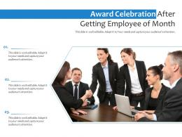 Award Celebration After Getting Employee Of Month