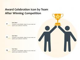 Award Celebration Icon By Team After Winning Competition
