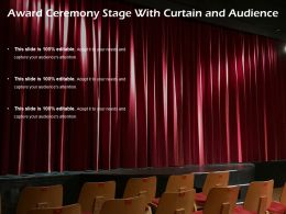 Award Ceremony Stage With Curtain And Audience