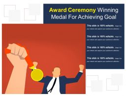 Award Ceremony Winning Medal For Achieving Goal