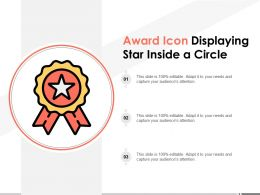 Award Icon Displaying Star Inside A Circle