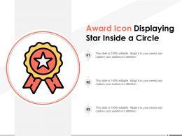 Award Icon Displaying Star Inside A Circle