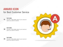 Award Icon For Best Customer Service