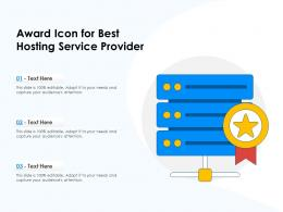 Award Icon For Best Hosting Service Provider