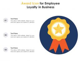 Award Icon For Employee Loyalty In Business