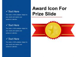 Award Icon For Prize Slide Good Ppt Example