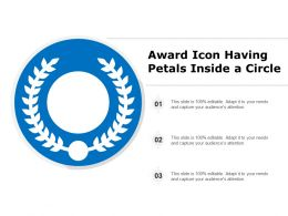Award Icon Having Petals Inside A Circle