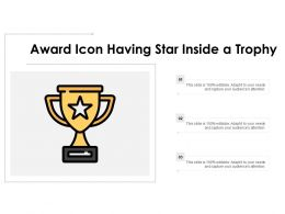 Award Icon Having Star Inside A Trophy