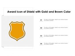 Award Icon Of Shield With Gold And Brown Color