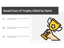 Award Icon Of Trophy Lifted By Hand