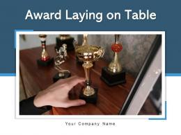 Award Laying On Table Business Achievement Championship Entertainment Entrepreneur