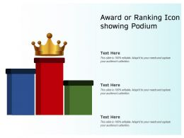 Award Or Ranking Icon Showing Podium