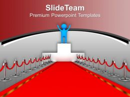 Award Winner Red Carpet Leadership Powerpoint Templates Ppt Themes And Graphics 0113