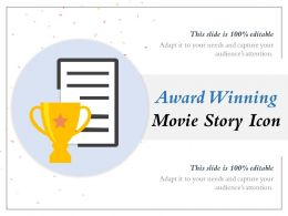 Award Winning Movie Story Icon