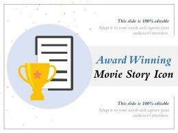 Award Winning Movie Story Icon