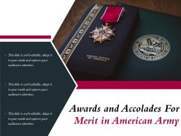 Awards And Accolades For Merit In American Army