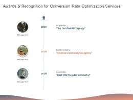Awards And Recognition For Conversion Rate Optimization Services Ppt Download