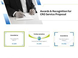 Awards And Recognition For CRO Service Proposal Ppt Powerpoint Presentation File