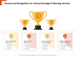 Awards And Recognition For Cultural Heritage And Planning Services Ppt Templates