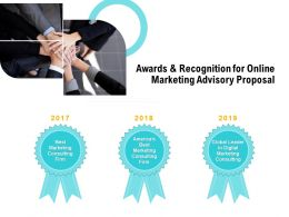 Awards And Recognition For Online Marketing Advisory Proposal Ppt Pictures