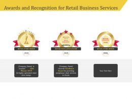 Awards And Recognition For Retail Business Services Ppt File Slides