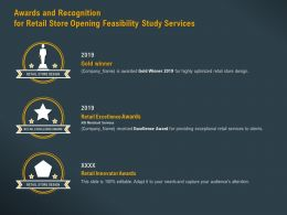 Awards And Recognition For Retail Store Opening Feasibility Study Services Ppt Graphic