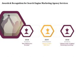 Awards And Recognition For Search Engine Marketing Agency Services Ppt Model