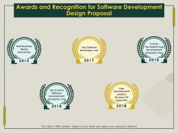 Awards And Recognition For Software Development Design Proposal Ppt File Design