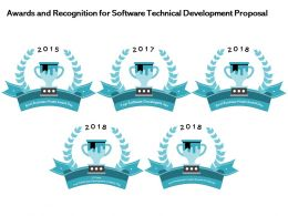 Awards And Recognition For Software Technical Development Proposal Ppt Icon