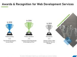 Awards And Recognition For Web Development Services Ppt Powerpoint File Example