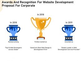 Awards And Recognition For Website Development Proposal For Corporate Ppt File Display