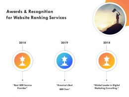 Awards And Recognition For Website Ranking Services Ppt Powerpoint Skills