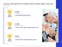 Awards And Recognition For Website Traffic Handler Agency Services Ppt Powerpoint Example