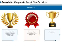 Awards For Corporate Event Film Services Ppt File Topics