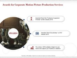 Awards For Corporate Motion Picture Production Services Ppt Powerpoint Presentation Outline