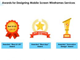Awards For Designing Mobile Screen Wireframes Services Ppt Powerpoint Gallery