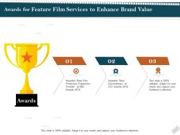 Awards For Feature Film Services To Enhance Brand Value Ppt Gallery