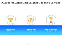 Awards For Mobile App Screens Designing Services Innovative Design Ppt Presentation Rules