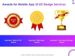 Awards For Mobile App Ui UX Design Services Ppt Powerpoint Presentation Templates