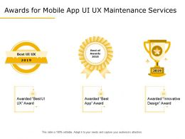 Awards For Mobile App UI UX Maintenance Services Ppt Template