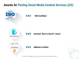 Awards For Posting Social Media Content Services Ppt Powerpoint Presentation Outline