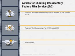 Awards For Shooting Documentary Feature Film Services Best Documentary Ppt Powerpoint Presentation Templates