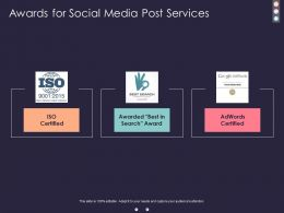 Awards For Social Media Post Services Ppt Powerpoint Presentation Backgrounds