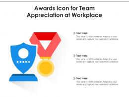 Awards Icon For Team Appreciation At Workplace