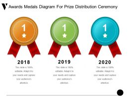 Awards Medals Diagram For Prize Distribution Ceremony Ppt Design