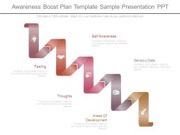 Awareness Boost Plan Template Sample Presentation Ppt