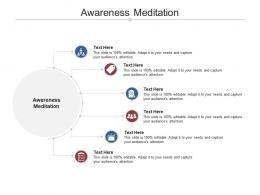 Awareness Meditation Ppt Powerpoint Presentation Summary Model Cpb