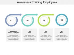 Awareness Training Employees Ppt Powerpoint Presentation Background Cpb