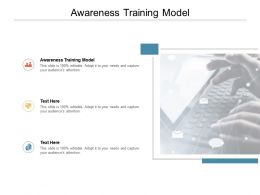 Awareness Training Model Ppt Powerpoint Presentation Pictures Show Cpb
