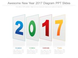 Awesome New Year 2017 Diagram Ppt Slides